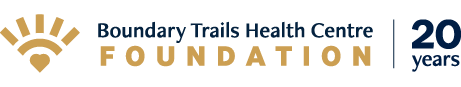 Boundary Trails Health Centre Foundation 20 years logo